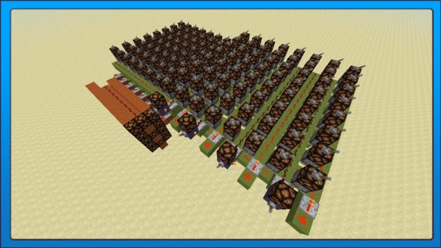 [Minecraft Tech] Redstone PLA Chip (Programed Logic Array)