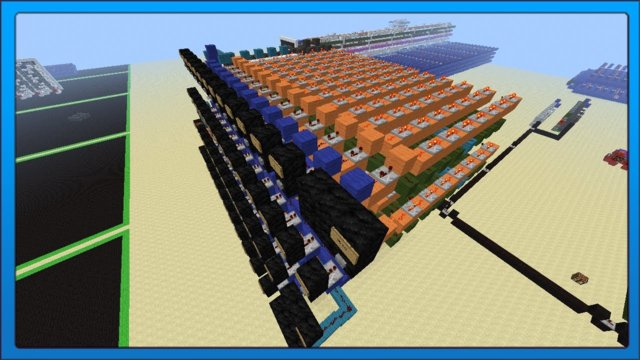 [Minecraft Tech] Redstone QWERTY Keyboard Testing