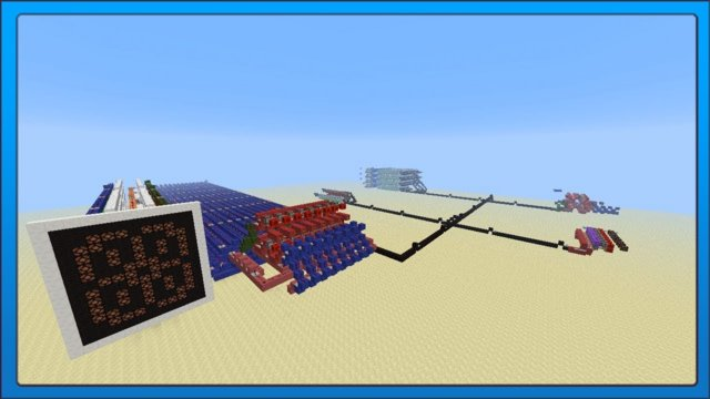 [Minecraft Tech] Redstone 8 bit serial ram testing