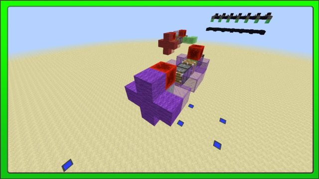 [Minecraft Concepts] Redstone Slime Block Flying Machine Automated Defence System