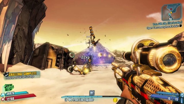 Borderlands 2 - Challenge Guide - Master of All He Surveys