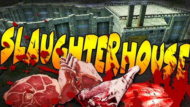 ARK: SLAUGHTERHOUSE BUILD - Automated Dino Meat Harvesting Factory or Butcher