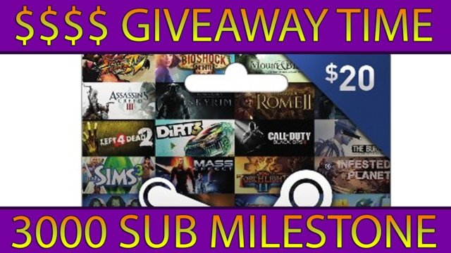 3000 SUB GIVEAWAY TIME!