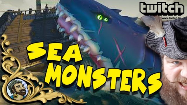 Sea Of Thieves - Sea Monster Hunting - The Megalodon, Kraken and More - TWITCH HIGHLIGHTS