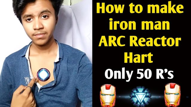 How to make iron man ARC Reactor only 50 R's