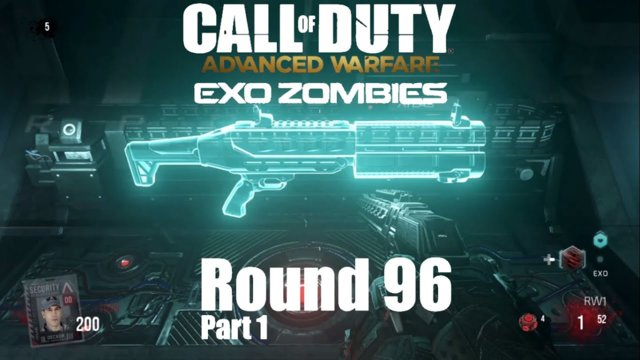 Call of Duty Advanced Warfare Exo Zombies - Outbreak Round 96 #1