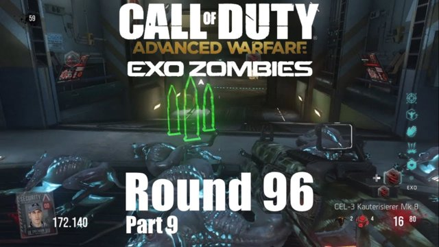 Call of Duty Advanced Warfare Exo Zombies - Outbreak Round 96 #9 - First Down Round 61